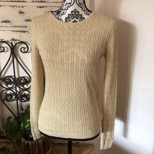 Brooks brothers silk cashmere creamy sweater